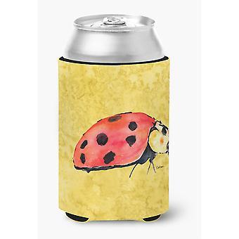 Marienkäfer auf gelbe Dose oder Flasche Getränk Isolator Hugger