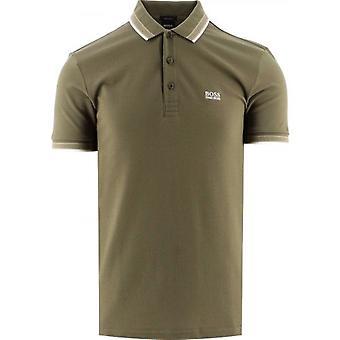 BOSS Khaki Paddy Polo Shirt