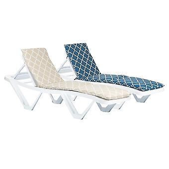 2x Master Sun Lounger Cushions Padded Outdoor Patio Garden Mattress Moroccan