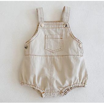 秋の赤ちゃんのオーバーオール、/女の子デニムオーバーオール、キッズジャンプスーツ