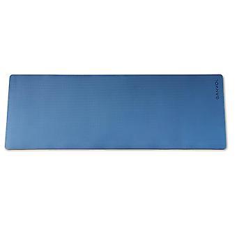 Ganvol TPE Yoga Mat Navy Blå, Sklisikker, Kaster ikke biter av form
