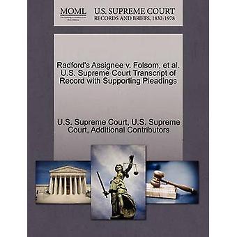 Radford's Assignee V. Folsom - Et Al. U.S. Supreme Court Transcript o
