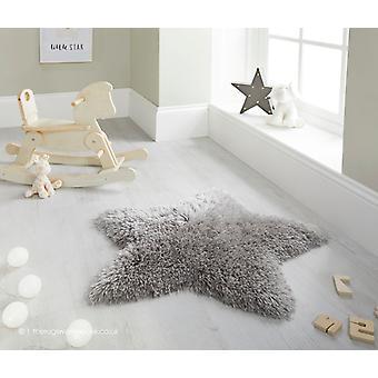 Fluffig stjärna grå matta