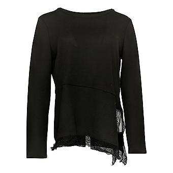 DG2 By Diane Gilman Women's Sweater V Neck Raglan Pullover Black 716120