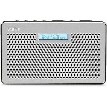 Smith-Style Gemini FM DAB Digital Radio with Sleep Timer Portable Radio, LCD Screen & Headphone