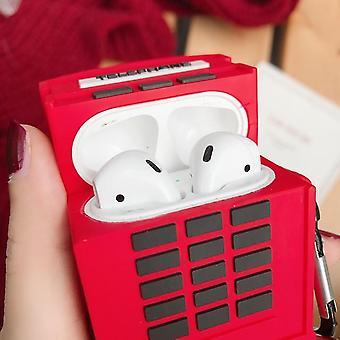 Airpods-kuulokkeiden kotelo Iskunkestävä kuulokekotelo pehmeä