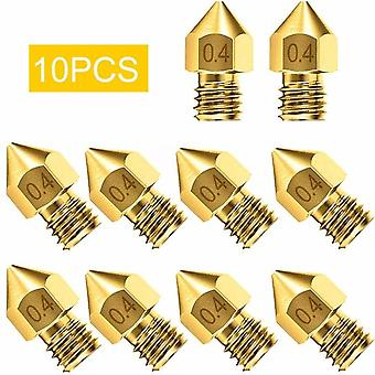 10/20Pcs 3d printer accessories nozzle accessory mk8 0.4mm for cr-10 for ender 3 for anet a8 perfectly circular and thread size