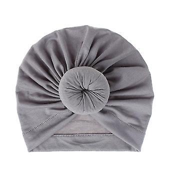 Mother Baby Soft Cotton Turban Hat Bonnet Cap