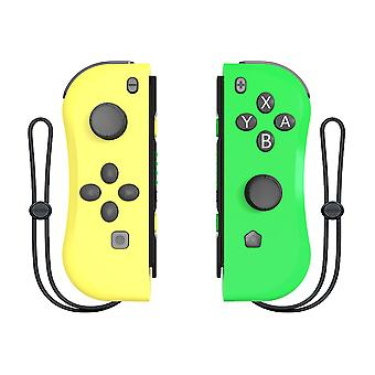 Wireless Joypad for Switch, Wireless Joypad Joypad (L-R) Compatible with Console Switch Remote Control Gamepad(yellow green )