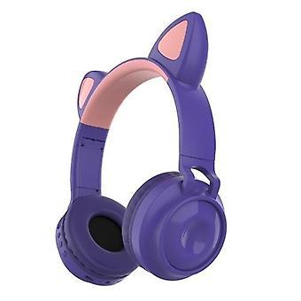 ZW-028 glødende katt trådløst Bluetooth headset