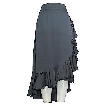 ليزا رينا جمع تنورة سحب على التفاف فو مع الكشكشة الأزرق A305085