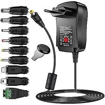 FengChun [Verbesserte Version] 30W Universal AC/DC Adapter Schaltnetzteil mit 9pcs Adapter Tipps,