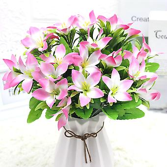 5Pcs人工花の結婚式の小道具人工花は、女性のための花の偽の贈り物を乾燥しました