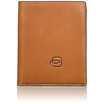 Piquadro Bagmotic Porte carte de crédit, Unisex adulte, Multicolore (Cuir/Rouge)(2)