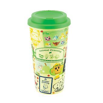 Animal Crossing travel cup gr³n/amarillo, impreso, 100 % plástico, zócalo ÷gen aprox. 450 ml.