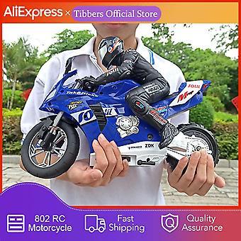 RC motorfiets radiobesturing auto op afstand bestuurbare speelgoed motor model kit stunt speelgoed voor jongens (blauw)
