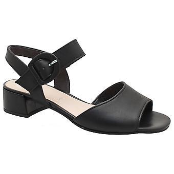 Gabor Black Low Heel Adjustable Strap Sandal