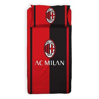 AC Milan Single Duvet Cover and Pillowcase Set - Tamaño europeo