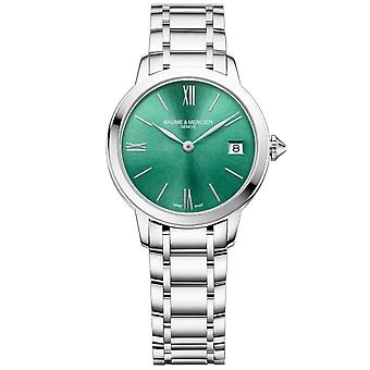 Baume & Mercier M0a10609 Classima Green & Silver Stainless Steel Ladies Watch
