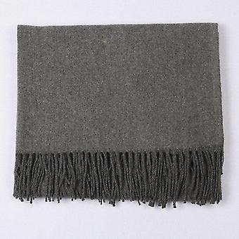 Теплый одноцветный мягкие кашемировые шарфы Шали и обертывания