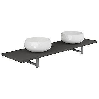 vidaXL 3 kpl. Kylpyhuoneen huonekalut asetettu keraaminen harmaa