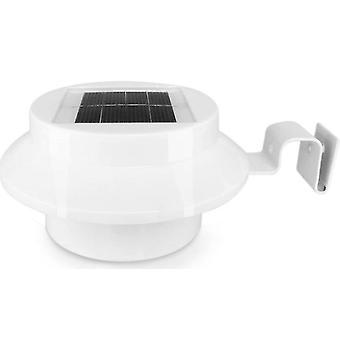 2 Pcs white 3led solar fence light, outdoor waterproof human body induction wall light az21548
