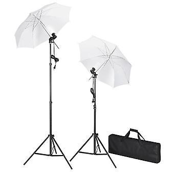 Studiobeleuchtung-Set mit Stative & Schirme