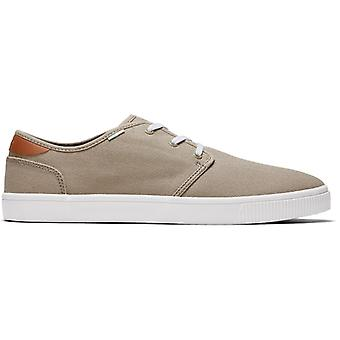 TOMS Carlo Oxford Mens Cotton Shoes Tan