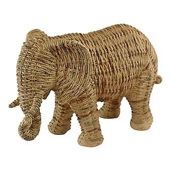 Vevd stil elefant ornament