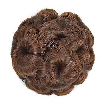 Девять Цветок парик Бун Chignons женщины гребень волос кусок Бун волос хвост свадебный