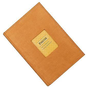 1pc 300 Sheets Photo Album Flannel Retro Albums Creative Memory Pictures Album Plug-in Photos Scrapbook (orange)