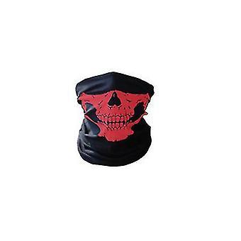 2Pcs rouge multifonctionnel extérieur sans soudure col de protection solaire, masque d'équitation az10967