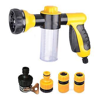 Pulvérisateur d'eau en mousse multifoncâce 8 modèles avec 4 joints de tuyau pour le lavage de nettoyage de voiture