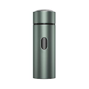 Portable Men's Electric Shaver,USB Rechargeable Beard Trimmer(Gray)
