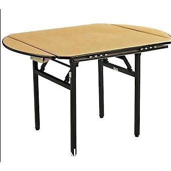 Kokoontaitettava neliö/pyöreä juhlapöytä, jossa Pvc-terästaittojalka