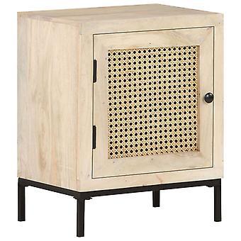 vidaXL yöpöytä 40x30x50 cm Mango massiivipuu ja putkimainen verkko