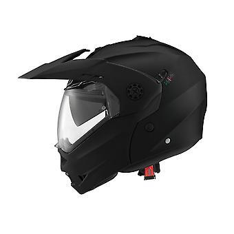 Caberg Tourmax Full Face Motorcykel Hjälm Hi-Vis Reflekterande Svart Matt