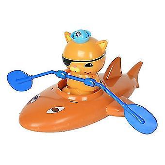 Soutuvenelapset kylpevät ja leikkivät vesileluissa (ruskea)