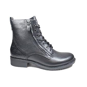 Tamaris 25211 074 Black Snake Leather Womens Ankle Boots