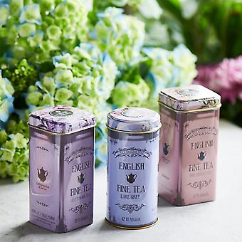 Floral tea tins gift with teabags
