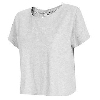 4F H4L21 TSD013 H4L21TSD013CHODNYJASNYSZARYMELAN universel hele året kvinder t-shirt