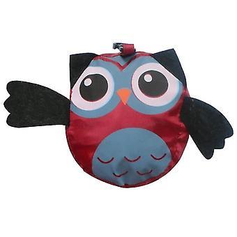 Animal Shopping Bag Portable Cute Owl Folding Storage Bag(Red)