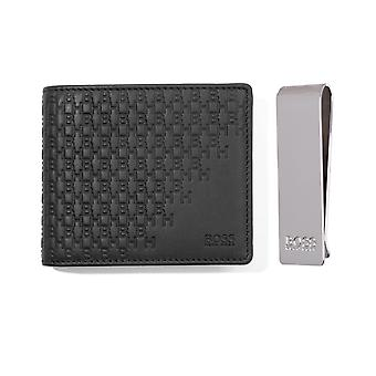 BOSS Wallet & Money Clip Gift Set - Black