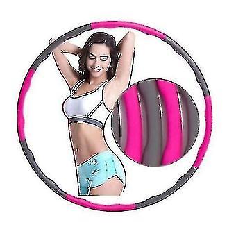 Vaahto hula vanne, vyötärö liikunta, vatsa, aikuinen irrotettava Hula Vanne fitness rengas (vaaleanpunainen harmaa)
