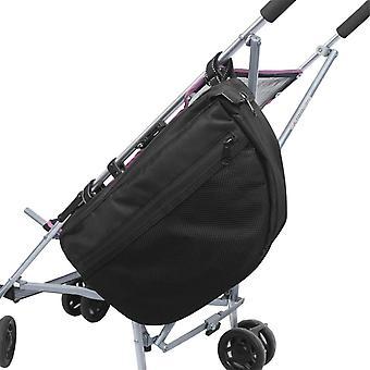 Mimigo eristetty lastenrattaat järjestäjä, side raksi rattaat satula laukku, musta