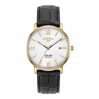 Roamer 958833 48 13 05 Valais Black Leather Strap Wristwatch