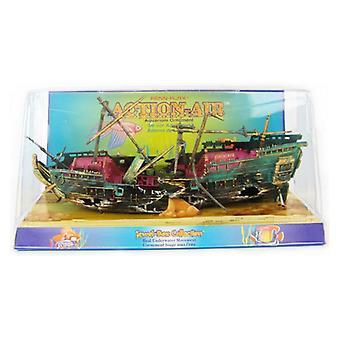 Penn Plax Action Air Shipwreck Aquarium Ornament - 10 «Long x 7» de haut (avec mâts en place)