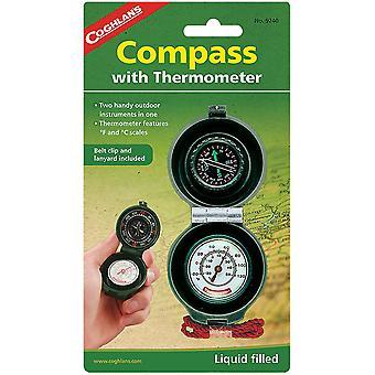 Coghlans Kompass und Thermometer mit Lanyard