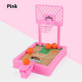 Mini Basketball Sport 2 Player Game Hoop Shooting Stand Toy Educational For Children Finger Basketball Shooting Family Game Toy Pink