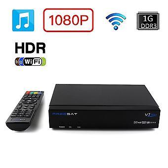 Freesat V7-max-dvb-s2 Original 1080p Full Hd Smart Tv Set Top Box Us/eu Plug